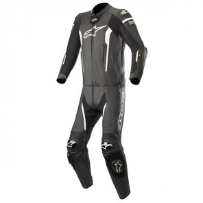 MISSILE LEATHER SUIT 2 PC -TECH AIR COMP Black/White