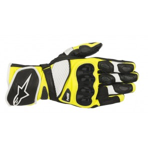GUANTO ALPINESTARS SP-1 V2 Black/White/Yellow Fluo