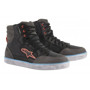 SCARPA ALPINESTARS J-6 WATERPROOF CANVAS Black/Anthracite/Light Blue