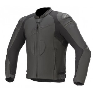GP PLUS R V3 LEATHER JACKET BLACK/BLACK