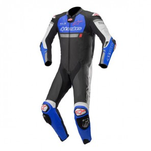 TUTA PELLE ALPINESTARS MISSILE IGNITION Black/Electric Blue/White (1727)