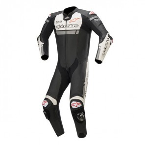 TUTA PELLE ALPINESTARS MISSILE IGNITION Black/White/Red Fluo
