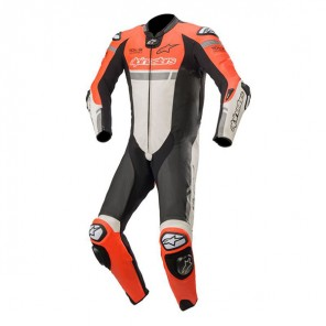 TUTA PELLE ALPINESTARS MISSILE IGNITION Red Fluo/White/Black
