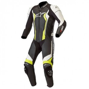 TUTA PELLE ALPINESTARS GP FORCE 1 PC Black/White/Yellow Fluo