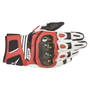 GUANTO ALPINESTARS SP X AIR CARBON V2 White/Black/Bright Red