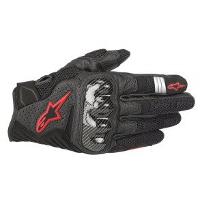 GUANTO ALPINESTARS SMX-1 AIR V2 BLACK RED FLUO