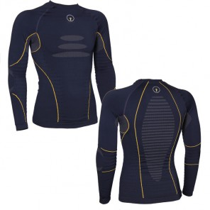 TECH 2 BASE LAYER SHIRT Blue/Yellow