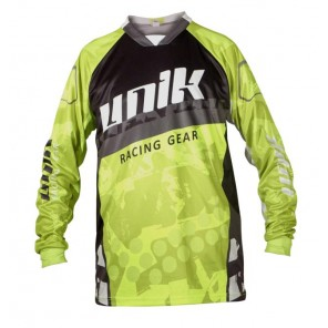 MAGLIA CROSS UNIK MX-01 Black/ Yellow Fluo